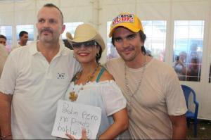 Miguel Bosé, Olga y Juanes/Cortesía Bonnet Media Group