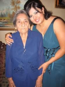 Mi abue Neva y yo