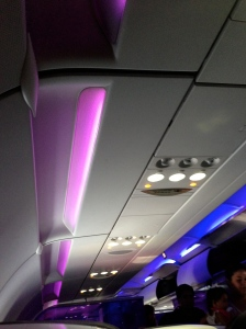 Interior de Virgin American Airlines