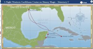Mapa del trayecto del crucero